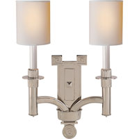 Visual Comfort Studio Troy 2 Light Decorative Wall Light in Polished Nickel SC2165PN-NP
