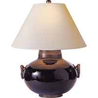 Visual Comfort Studio Tang 1 Light Decorative Table Lamp in Hand Painted Black SC3002BLK-NP