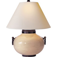 Visual Comfort Studio Tang 1 Light Decorative Table Lamp in Ivory Crackle Ceramic SC3002IC-NP