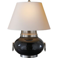 Visual Comfort Studio Tang 1 Light Decorative Table Lamp in Hand Painted Black SC3009BLK-NP
