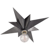 Studio Star 1 Light 15 inch Antique Silver Flush Mount Ceiling Light
