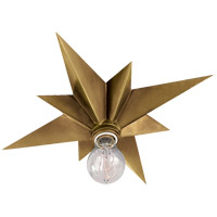 Visual Comfort Studio Star 1 Light Flush Mount in Hand-Rubbed Antique Brass SC4000HAB