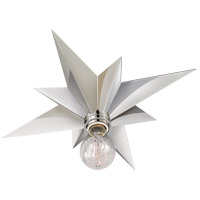 Visual Comfort Studio Star 1 Light Flush Mount in Polished Nickel SC4000PN