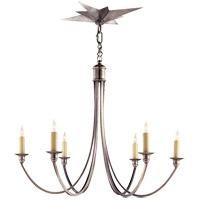 Eric Cohler Venetian 6 Light 25 inch Antique Silver Chandelier Ceiling Light