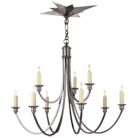 Visual Comfort Studio Venetian 9 Light Chandelier in Antique Silver SC5002AS
