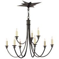 Visual Comfort Studio Venetian 9 Light Chandelier in Bronze SC5002BZ