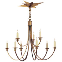 Visual Comfort Studio Venetian 9 Light Chandelier in Hand-Rubbed Antique Brass SC5002HAB