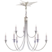 Eric Cohler Venetian 9 Light 26 inch Polished Nickel Chandelier Ceiling Light