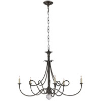 Visual Comfort Studio Twist 5 Light Chandelier in Bronze with Wax SC5005BZ