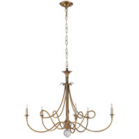 Visual Comfort Studio Twist 5 Light Chandelier in Hand-Rubbed Antique Brass SC5005HAB
