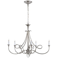 Visual Comfort Studio Twist 5 Light Chandelier in Polished Nickel SC5005PN