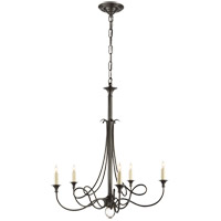 Visual Comfort Studio Twist 5 Light Chandelier in Bronze with Wax SC5015BZ