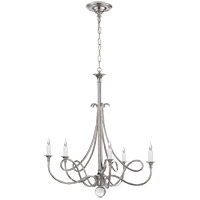 Visual Comfort Studio Twist 5 Light Chandelier in Polished Nickel SC5015PN