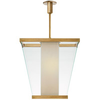 Eric Cohler Marin 6 Light 21 inch Antique Burnished Brass Foyer Lantern Ceiling Light, Eric Cohler, Medium, White Glass