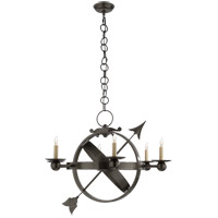 Visual Comfort Studio Armillary 6 Light Chandelier in Bronze with Wax SC5102BZ