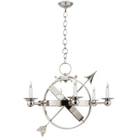 Visual Comfort Studio Armillary 6 Light Chandelier in Polished Nickel SC5102PN