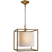 Visual Comfort Studio Caged 1 Light Foyer Pendant in Hand-Rubbed Antique Brass SC5159HAB