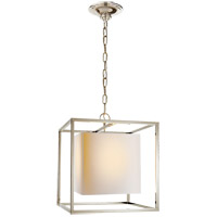 Visual Comfort Studio Caged 1 Light Foyer Pendant in Polished Nickel SC5159PN