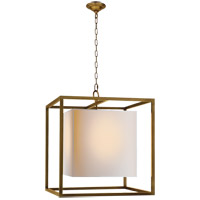 Visual Comfort Studio Caged 2 Light Foyer Pendant in Hand-Rubbed Antique Brass SC5160HAB