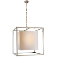 Visual Comfort Studio Caged 2 Light Foyer Pendant in Polished Nickel SC5160PN