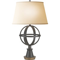 Visual Comfort Studio Armillary 1 Light Decorative Table Lamp in Aged Iron with Gilded Iron Accent SE3150AIGI-L
