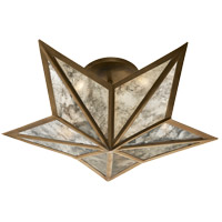 Studio Constellation 3 Light 20 inch Hand-Rubbed Antique Brass Flush Mount Ceiling Light