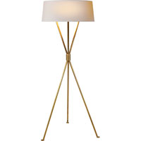 Visual Comfort Suzanne Kasler Thornton 3 Light Decorative Floor Lamp in Hand-Rubbed Antique Brass SK1004HAB-NP