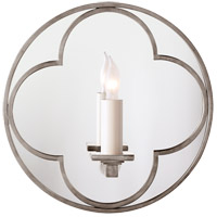 Visual Comfort Suzanne Kasler Quatrefoil 1 Light Decorative Wall Light in Antique Nickel SK2050AN