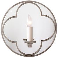 Visual Comfort SK2050AN Suzanne Kasler Quatrefoil 1 Light 10 inch Antique Nickel Decorative Wall Light