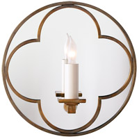 Visual Comfort Suzanne Kasler Quatrefoil 1 Light Decorative Wall Light in Hand-Rubbed Antique Brass SK2050HAB