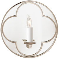 Visual Comfort Suzanne Kasler Quatrefoil 1 Light Decorative Wall Light in Polished Nickel SK2050PN