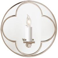 Visual Comfort SK2050PN Suzanne Kasler Quatrefoil 1 Light 10 inch Polished Nickel Decorative Wall Light