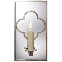 Visual Comfort Suzanne Kasler Quatrefoil 1 Light Decorative Wall Light in Antique Nickel SK2052AN