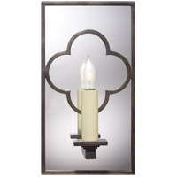 Visual Comfort Suzanne Kasler Quatrefoil 1 Light Decorative Wall Light in Bronze SK2052BZ