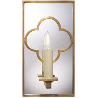 Visual Comfort Suzanne Kasler Quatrefoil 1 Light Decorative Wall Light in Hand-Rubbed Antique Brass SK2052HAB