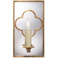 Visual Comfort SK2052HAB Suzanne Kasler Quatrefoil 1 Light 6 inch Hand-Rubbed Antique Brass Decorative Wall Light