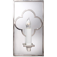 Visual Comfort Suzanne Kasler Quatrefoil 1 Light Decorative Wall Light in Polished Nickel SK2052PN