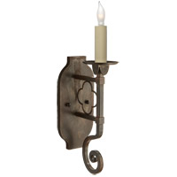 Visual Comfort Suzanne Kasler Margarite 1 Light Decorative Wall Light in Aged Iron with Wax SK2105AI