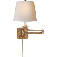 Visual Comfort Suzanne Kasler Griffith 1 Light Swing-Arm Wall Light in Gilded Iron with Wax SK2109GI-NP