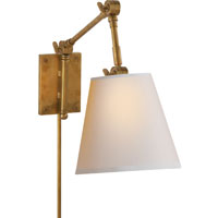 Visual Comfort Suzanne Kasler Graves 1 Light Task Wall Light in Hand-Rubbed Antique Brass SK2115HAB-NP