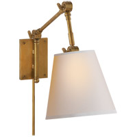 Visual Comfort SK2115HAB-NP Suzanne Kasler Graves 22 inch 60 watt Hand-Rubbed Antique Brass Task Wall Light