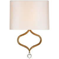 Visual Comfort SK2258GI-PL Suzanne Kasler Heart 1 Light 13 inch Gilded Iron Sconce Wall Light, Suzanne Kasler, Natural Percale Shade