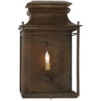 Visual Comfort Suzanne Kasler Flea Market 1 Light Wall Lantern in Antique Zinc SK2301AZ