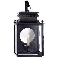 Suzanne Kasler Honore 1 Light 18 inch Blackened Copper Outdoor Wall Lantern, Suzanne Kasler, Small, Bracketed, Clear Glass
