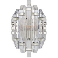 Visual Comfort SK2400PN-CA Suzanne Kasler Adele 2 Light 9 inch Polished Nickel Sconce Wall Light, Suzanne Kasler, Crystal, Clear Acrylic Shade