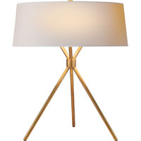 Visual Comfort Suzanne Kasler Thornton 3 Light Decorative Table Lamp in Hand-Rubbed Antique Brass SK3007HAB-NP