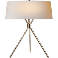 Visual Comfort Suzanne Kasler Thornton 3 Light Decorative Table Lamp in Polished Nickel SK3007PN-NP