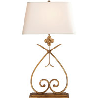 Visual Comfort SK3100GI-NP Suzanne Kasler Harper 30 inch 100 watt Gilded Iron with Wax Decorative Table Lamp Portable Light in Natural Paper