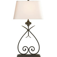 Visual Comfort SK3100NR-NP Suzanne Kasler Harper 30 inch 100 watt Natural Rusted Iron Decorative Table Lamp Portable Light in Natural Paper