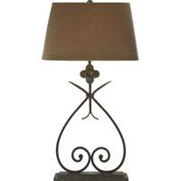 Visual Comfort SK3100NR-TL Suzanne Kasler Harper 30 inch 150 watt Natural Rusted Iron Decorative Table Lamp Portable Light in Tissue Silk